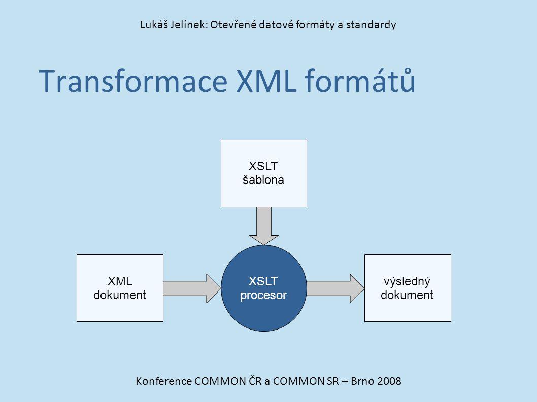 Transformace XML formátů