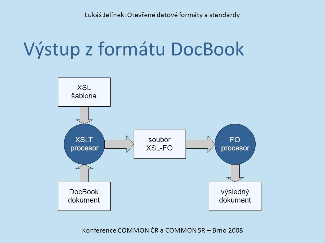 Výstup z formátu DocBook