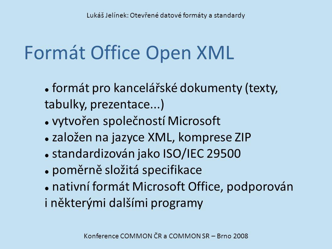 Lukáš Jelínek: Otevřené datové formáty a standardy