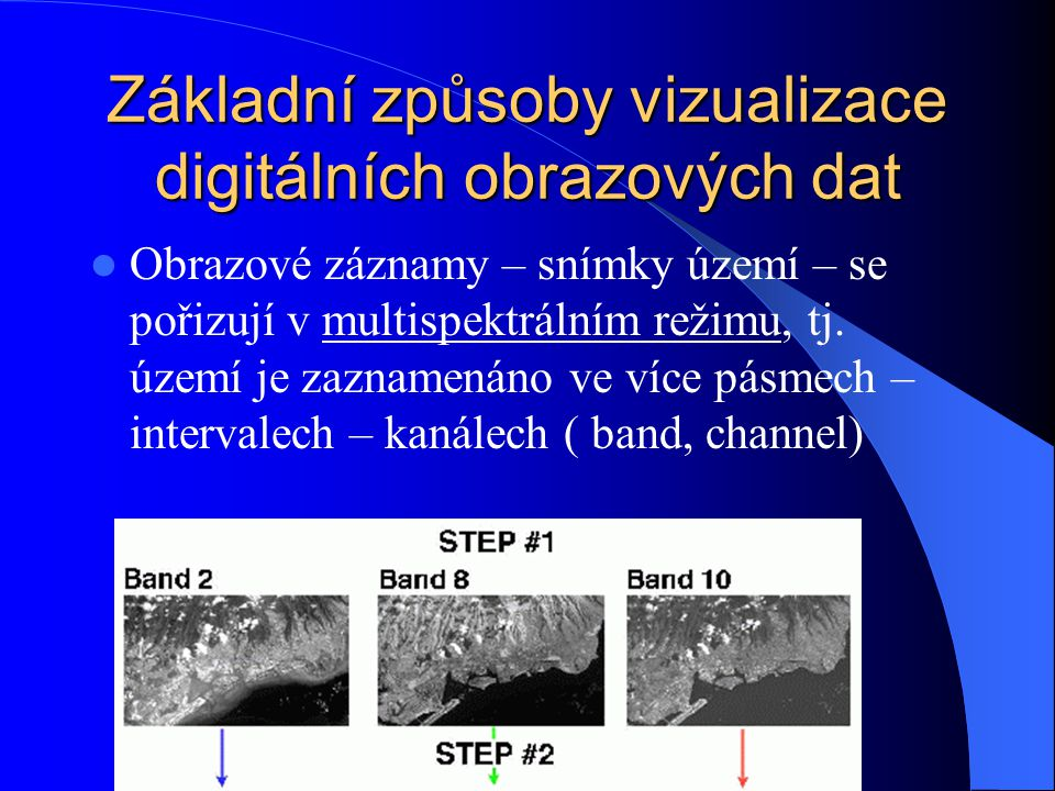 Základní způsoby vizualizace digitálních obrazových dat