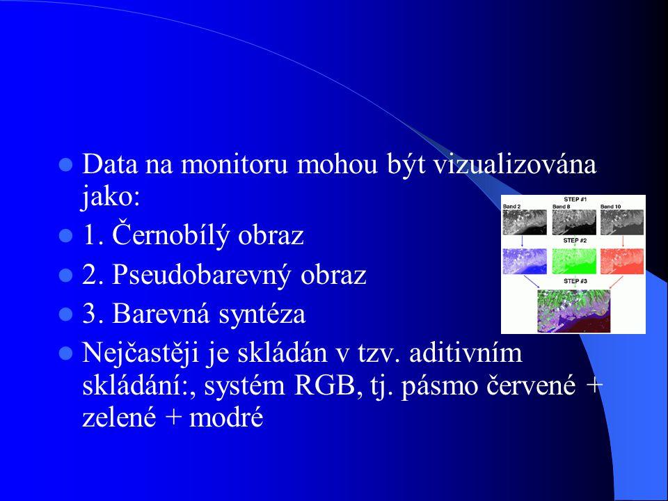 Data na monitoru mohou být vizualizována jako: