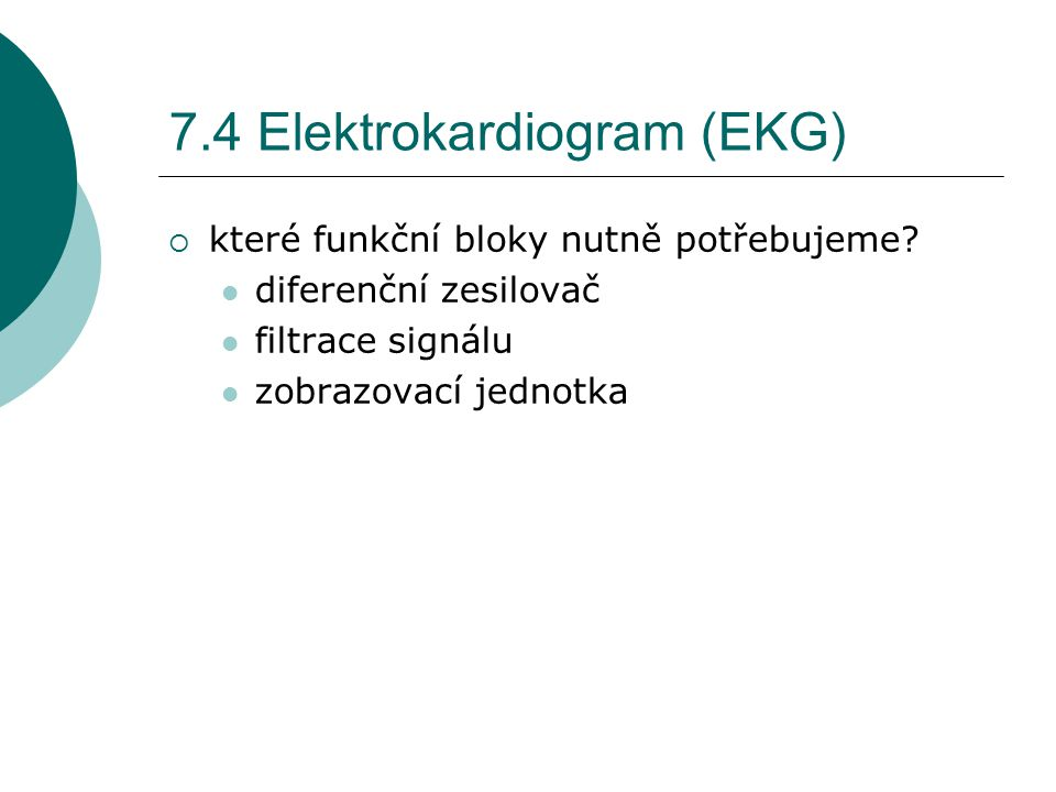7.4 Elektrokardiogram (EKG)