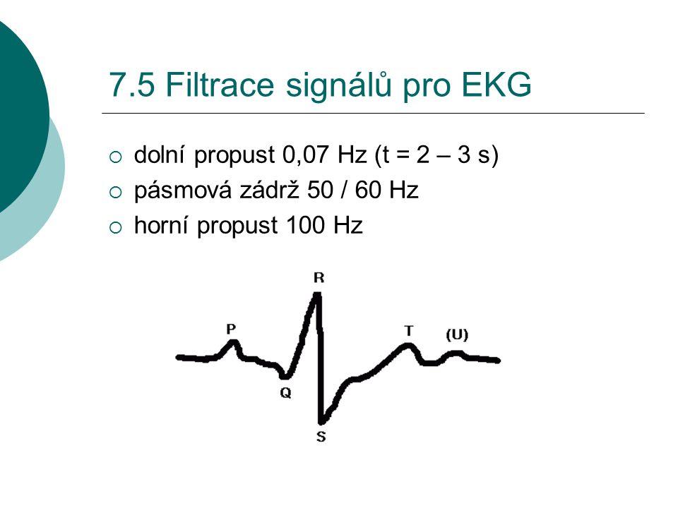 7.5 Filtrace signálů pro EKG