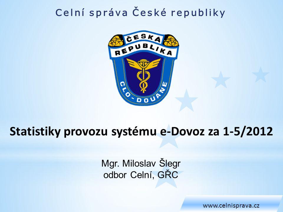 Statistiky provozu systému e-Dovoz za 1-5/2012