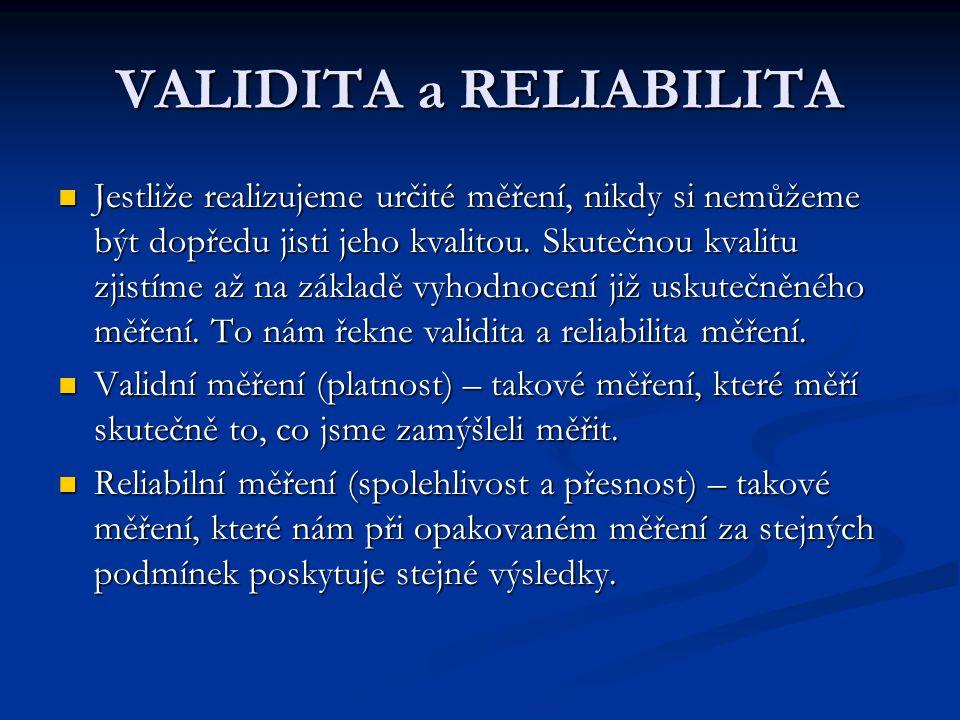 VALIDITA a RELIABILITA