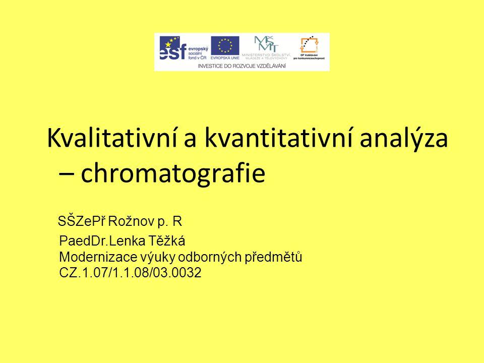 Kvalitativní a kvantitativní analýza – chromatografie
