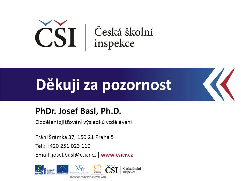 PhDr. Josef Basl, Ph.D. Oddělení zjišťování výsledků vzdělávání