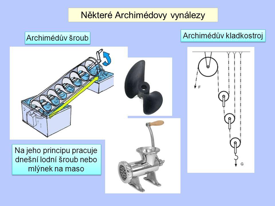 Některé Archimédovy vynálezy