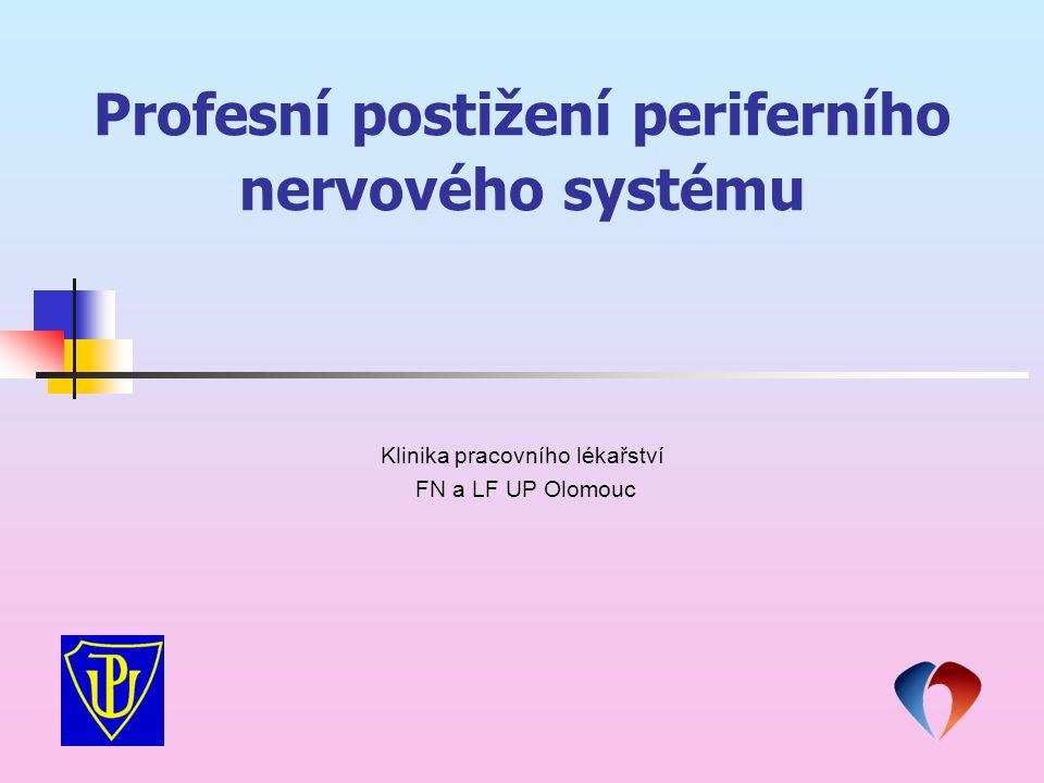 Profesní postižení periferního nervového systému