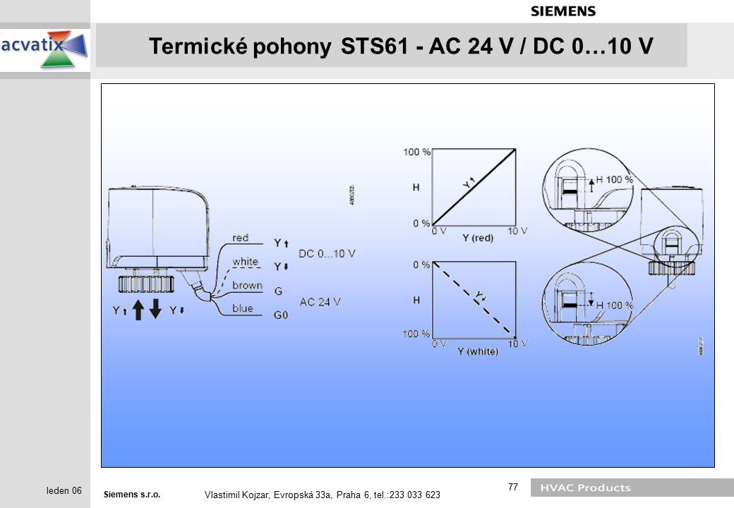 Termické pohony STS61 - AC 24 V / DC 0…10 V