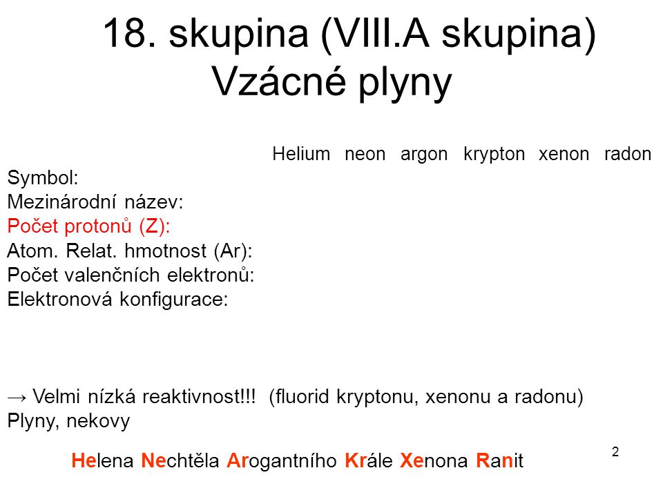 18. skupina (VIII.A skupina)
