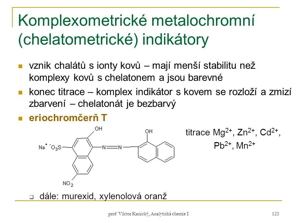Komplexometrické metalochromní (chelatometrické) indikátory