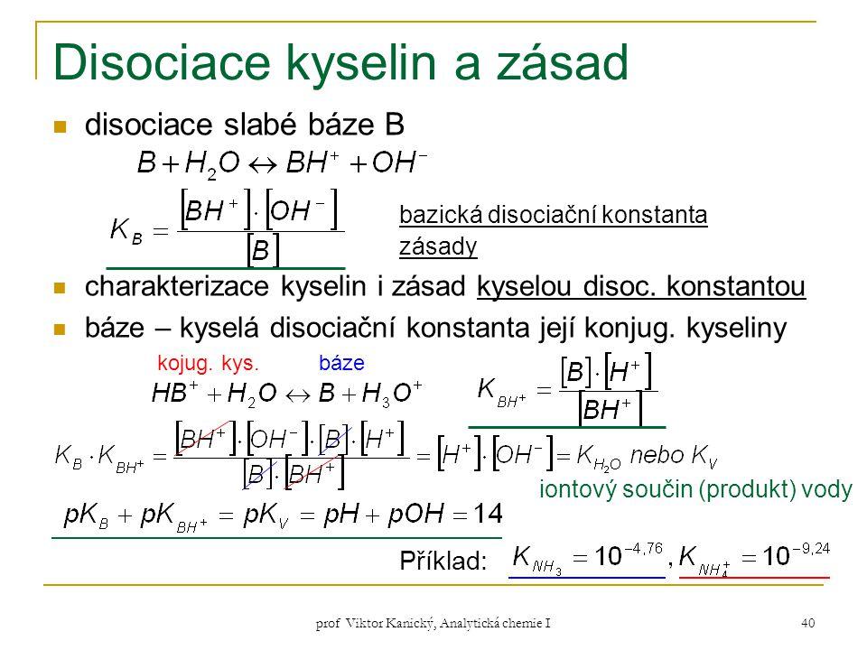 Disociace kyselin a zásad