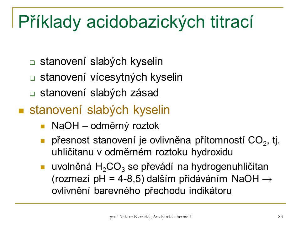 Příklady acidobazických titrací