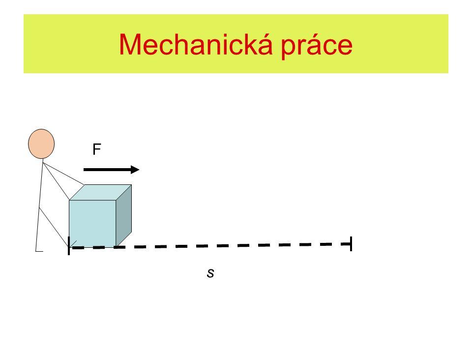 Mechanická práce F s