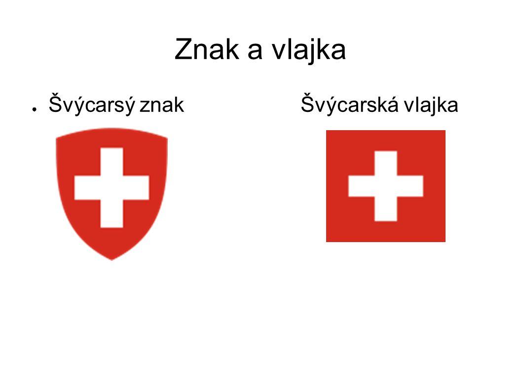 Znak a vlajka Švýcarsý znak Švýcarská vlajka