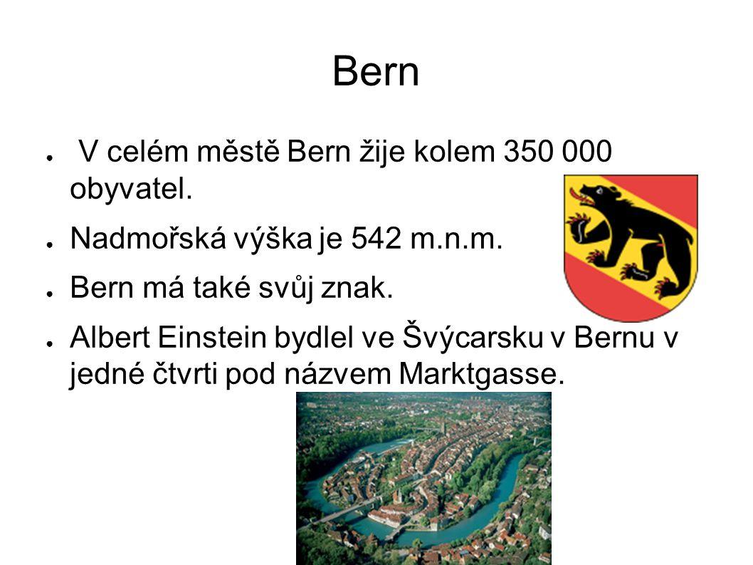 Bern V celém městě Bern žije kolem 350 000 obyvatel.