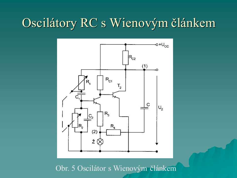 Oscilátory RC s Wienovým článkem