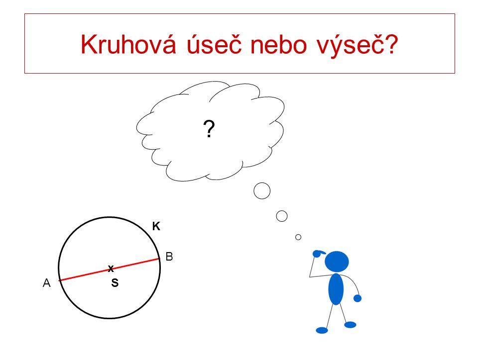 Kruhová úseč nebo výseč