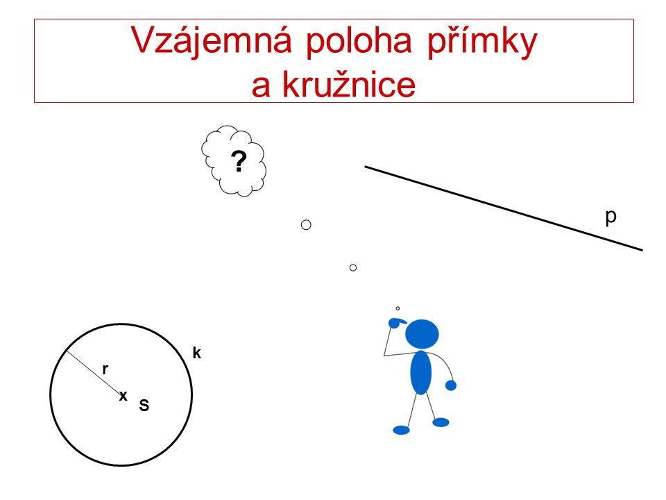 Vzájemná poloha přímky a kružnice