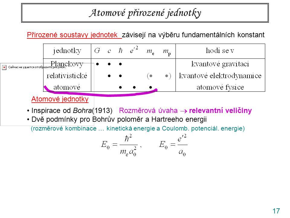 Atomové přirozené jednotky