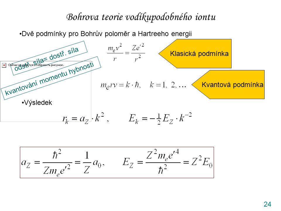 Bohrova teorie vodíkupodobného iontu
