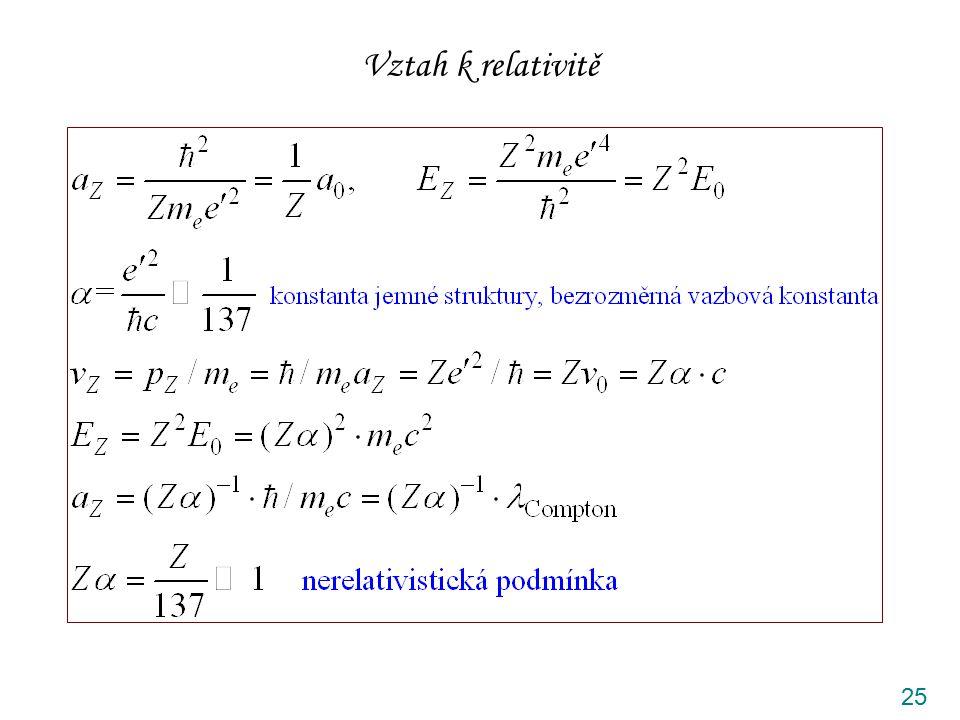 Vztah k relativitě