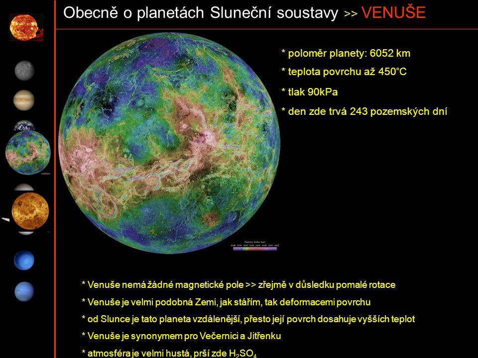 Obecně o planetách Sluneční soustavy >> VENUŠE