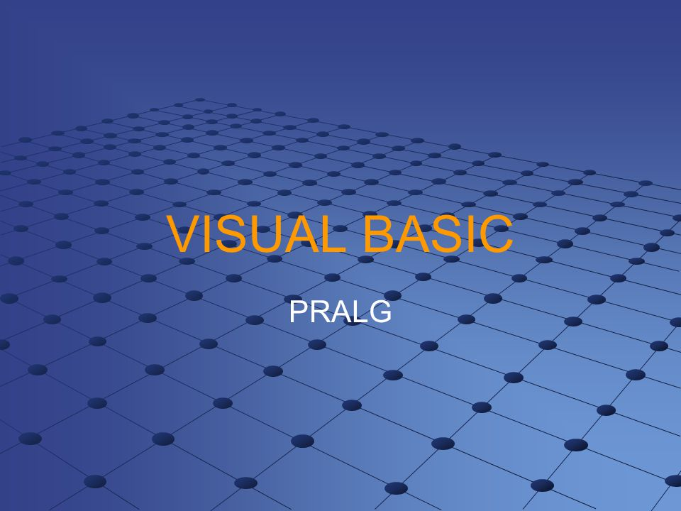 VISUAL BASIC PRALG
