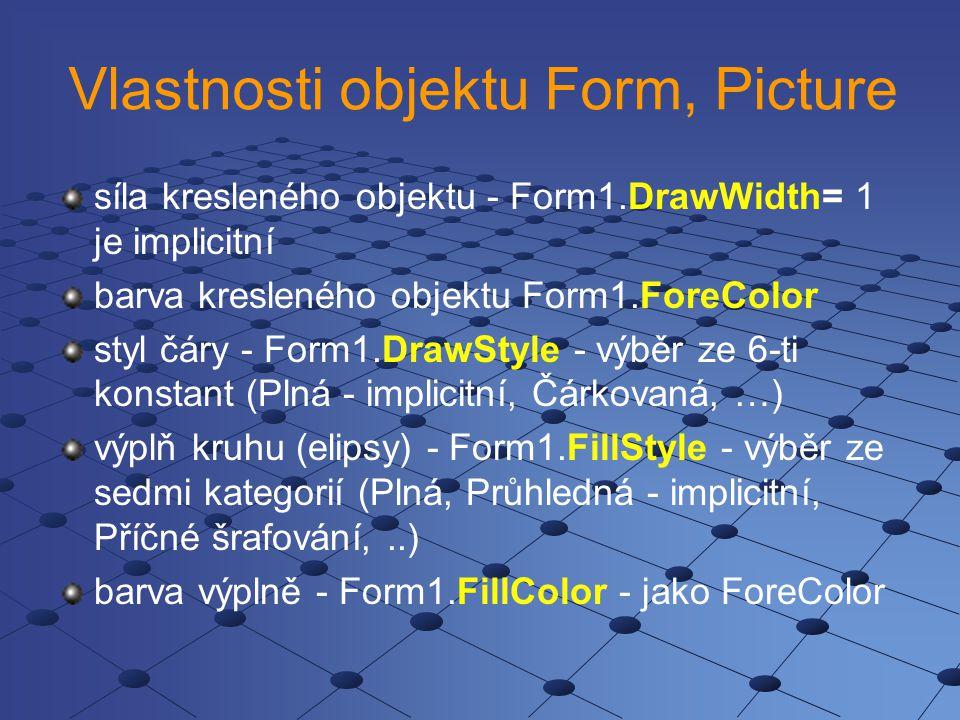 Vlastnosti objektu Form, Picture