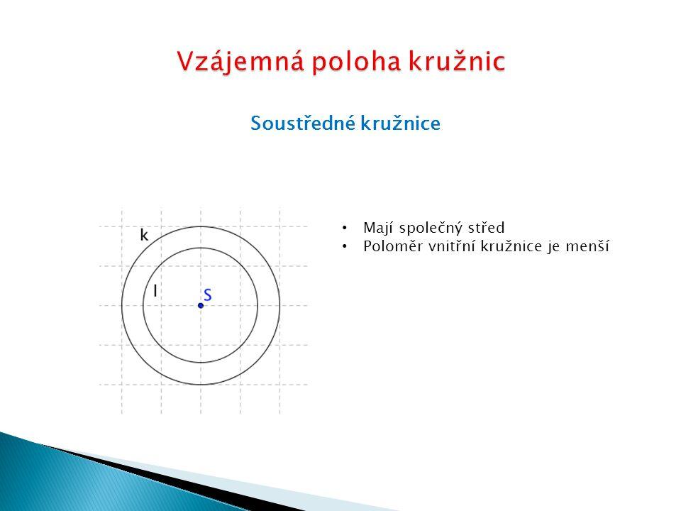 Vzájemná poloha kružnic