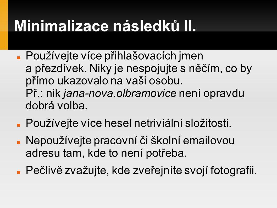 Minimalizace následků II.