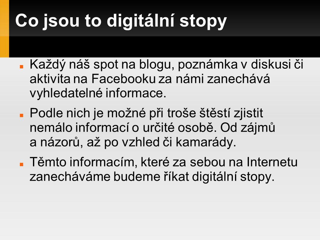 Co jsou to digitální stopy