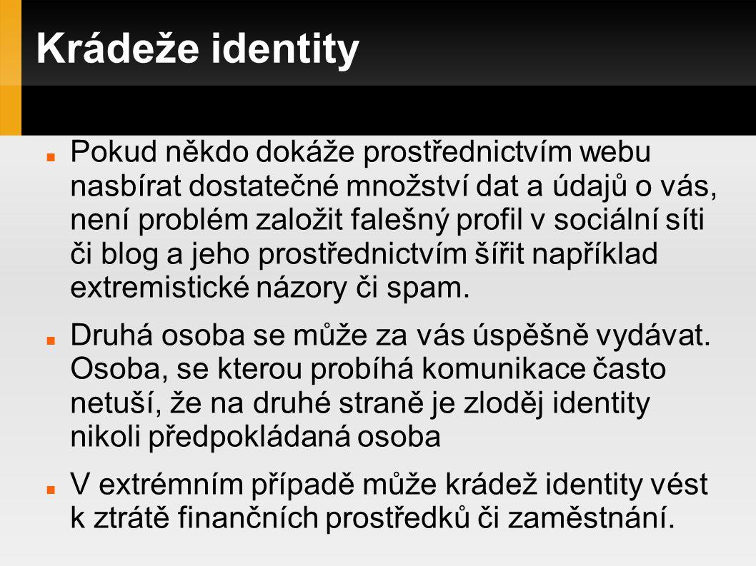 Krádeže identity