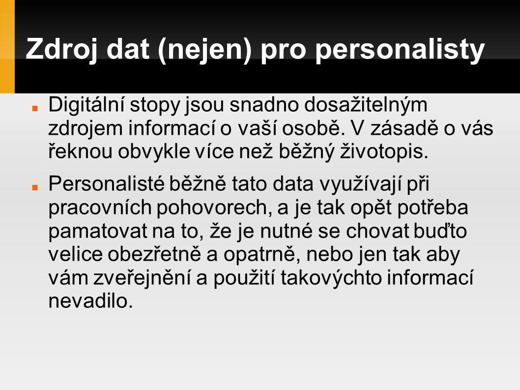 Zdroj dat (nejen) pro personalisty