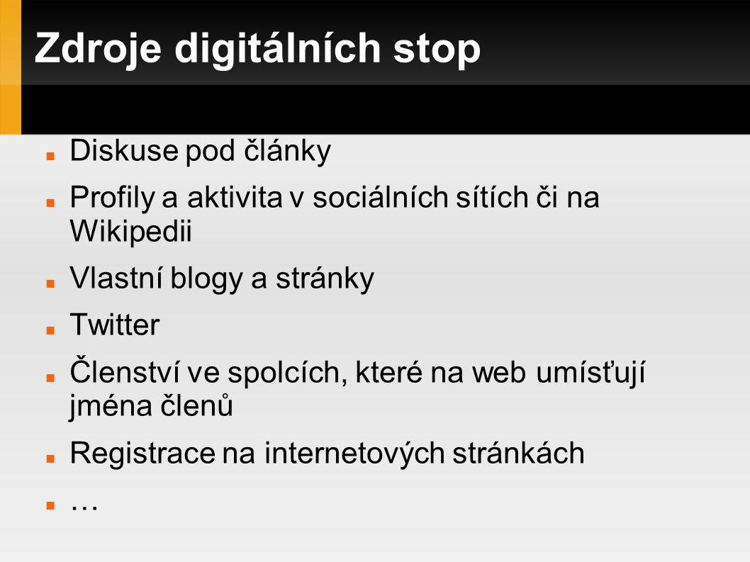Zdroje digitálních stop