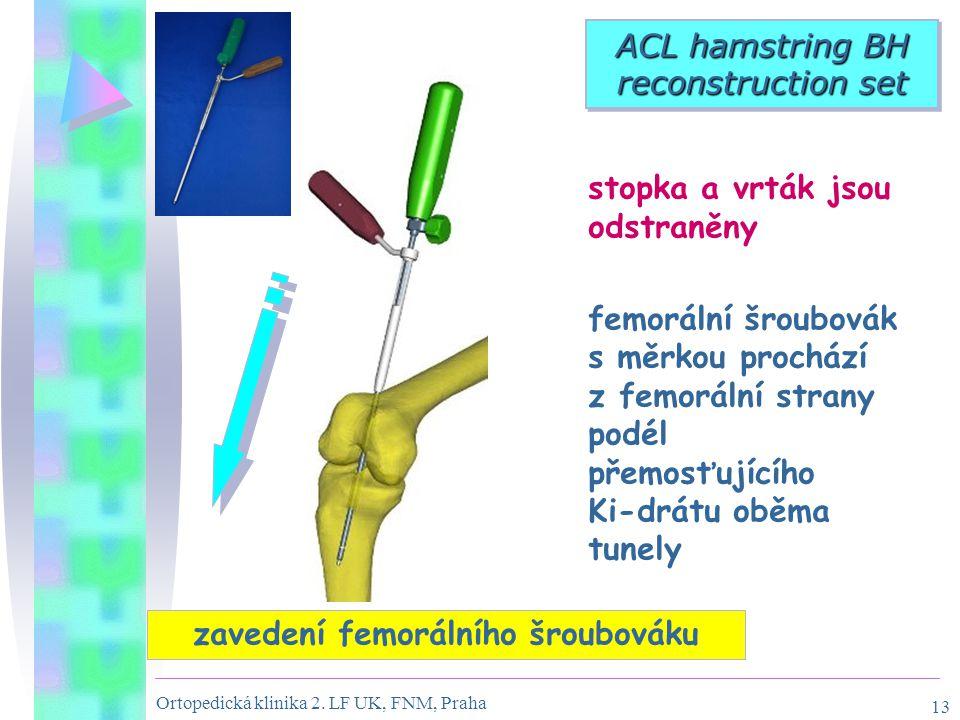 zavedení femorálního šroubováku