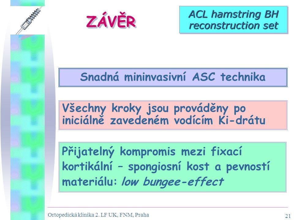 Snadná mininvasivní ASC technika