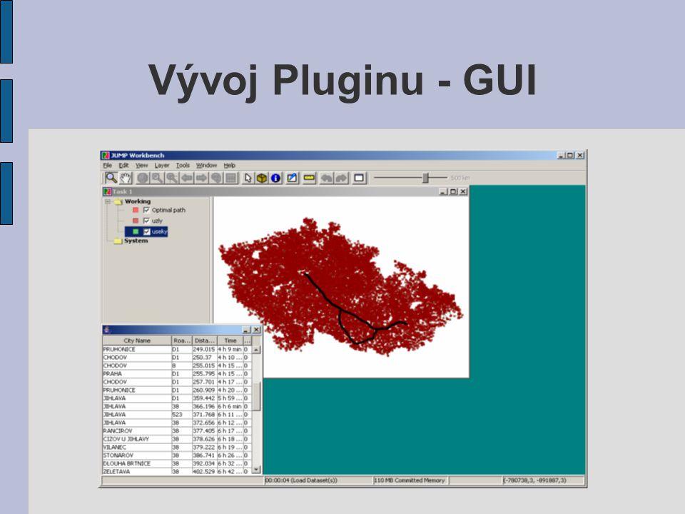 Vývoj Pluginu - GUI