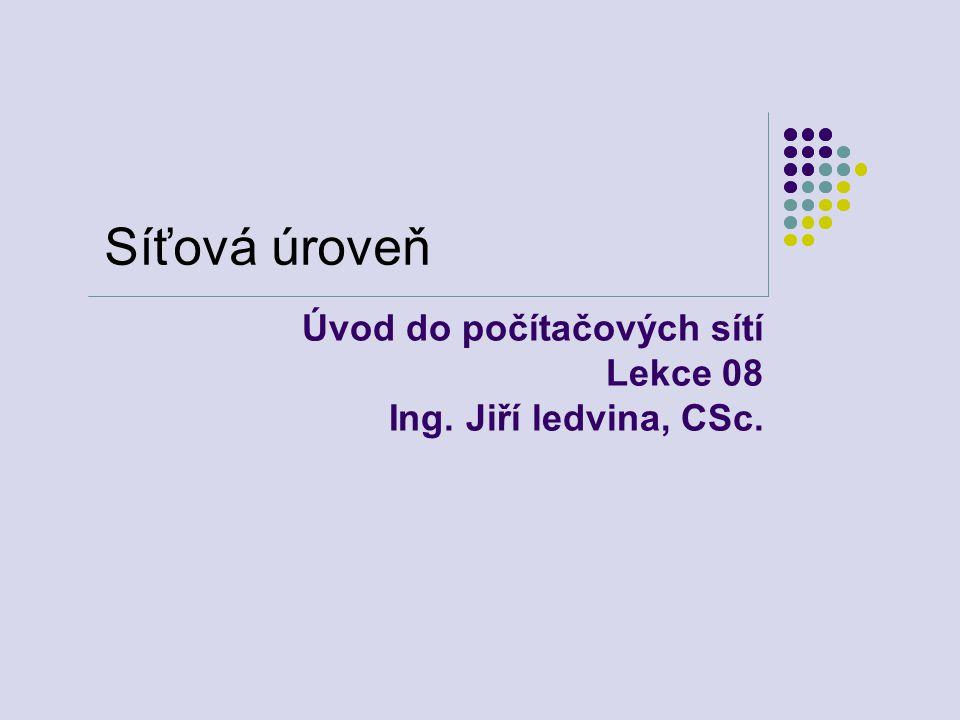 Úvod do počítačových sítí Lekce 08 Ing. Jiří ledvina, CSc.