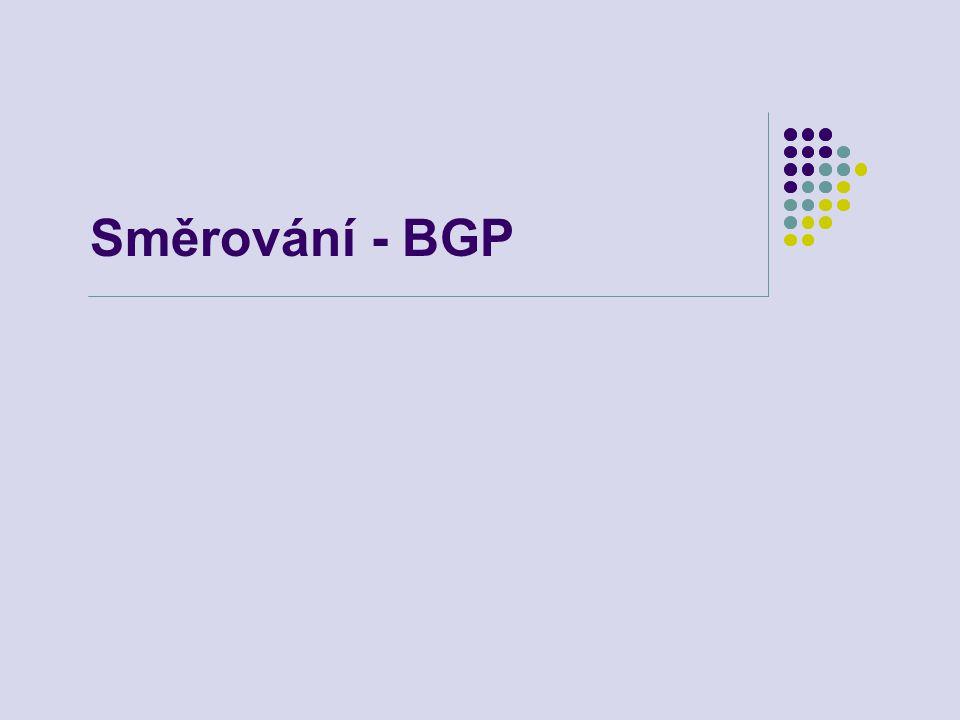 Směrování - BGP