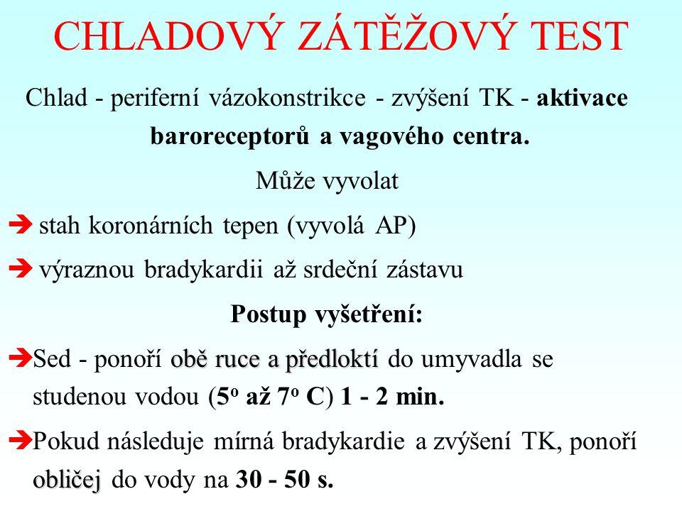 CHLADOVÝ ZÁTĚŽOVÝ TEST