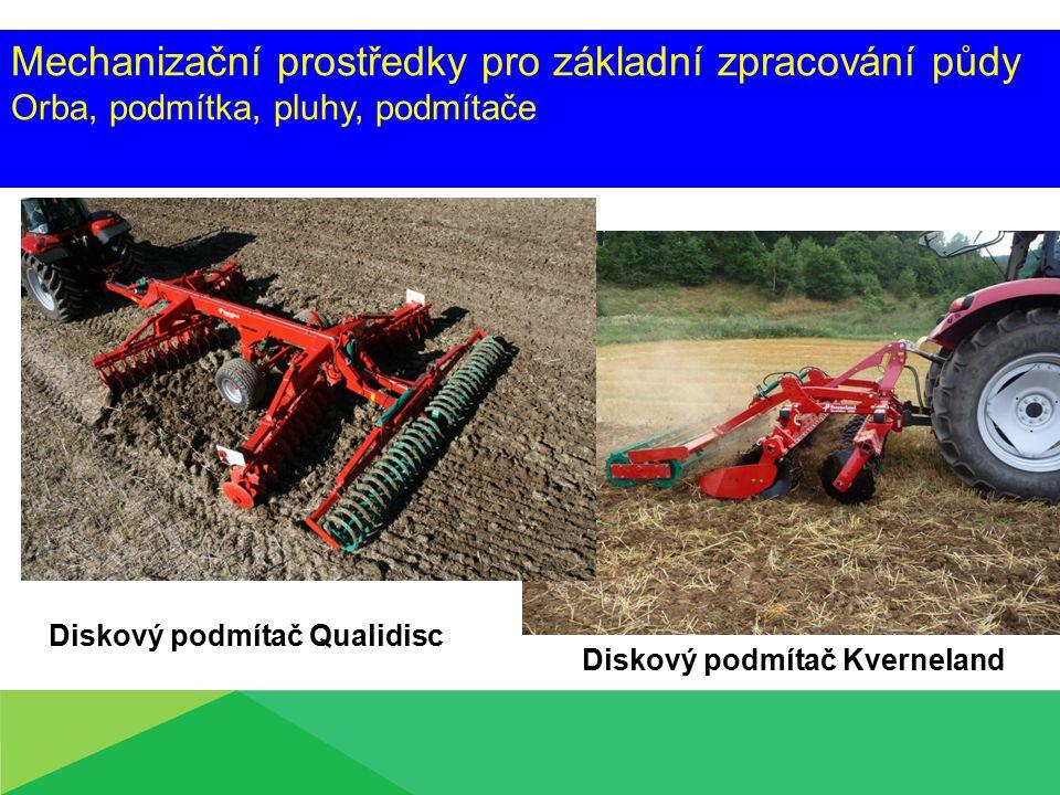 Mechanizační prostředky pro základní zpracování půdy Orba, podmítka, pluhy, podmítače