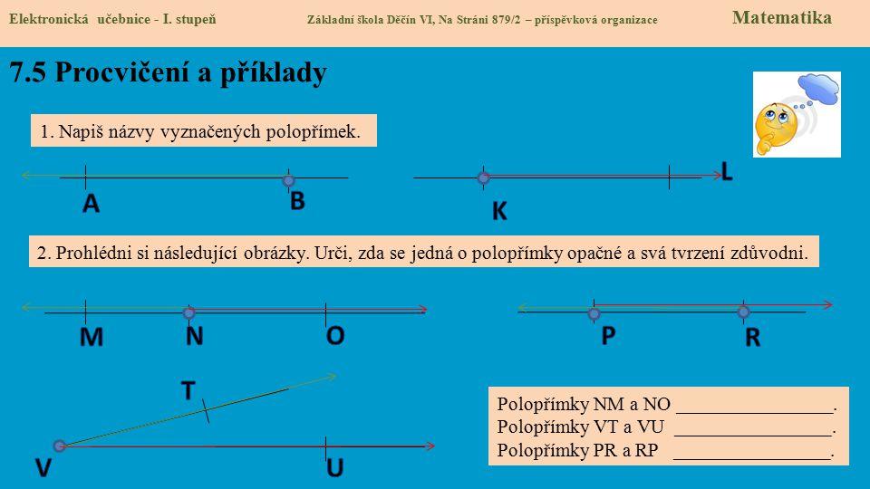 7.5 Procvičení a příklady L A B K M N O P R T V U