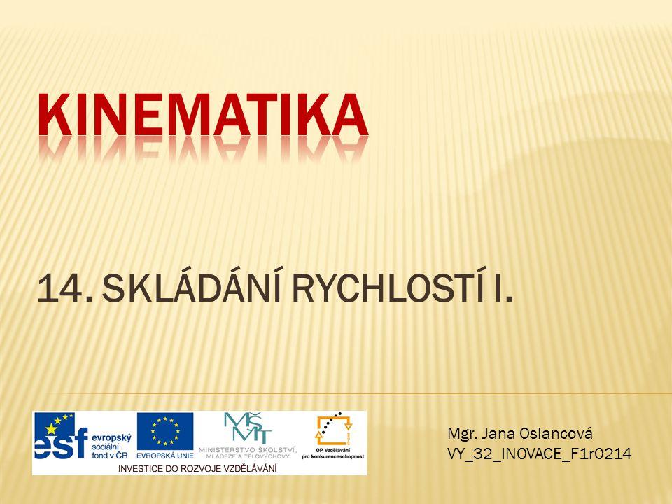 Kinematika 14. SKLÁDÁNÍ RYCHLOSTÍ I. Mgr. Jana Oslancová