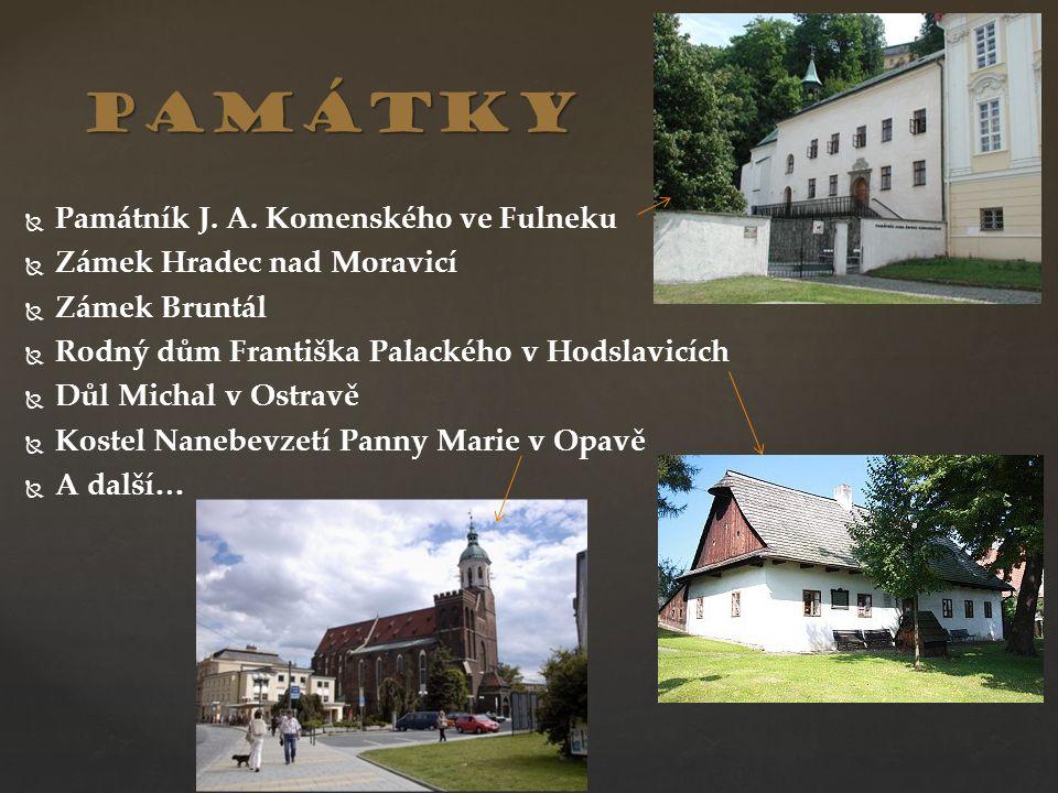památky Památník J. A. Komenského ve Fulneku Zámek Hradec nad Moravicí