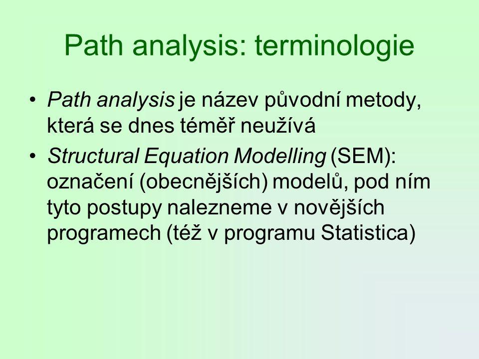 Path analysis: terminologie