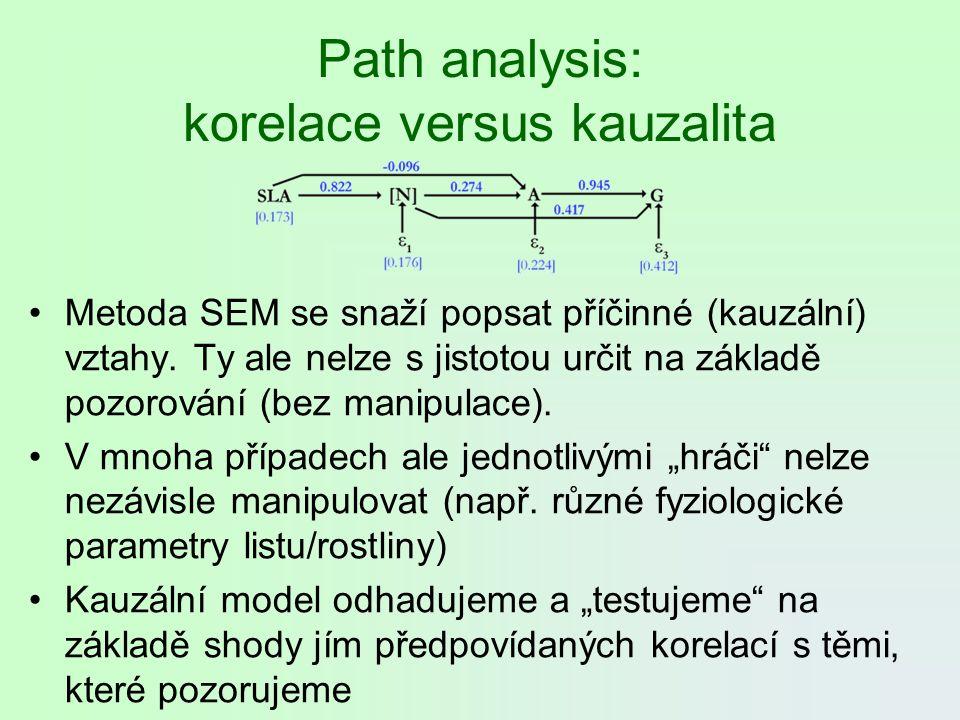Path analysis: korelace versus kauzalita