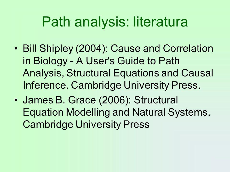 Path analysis: literatura