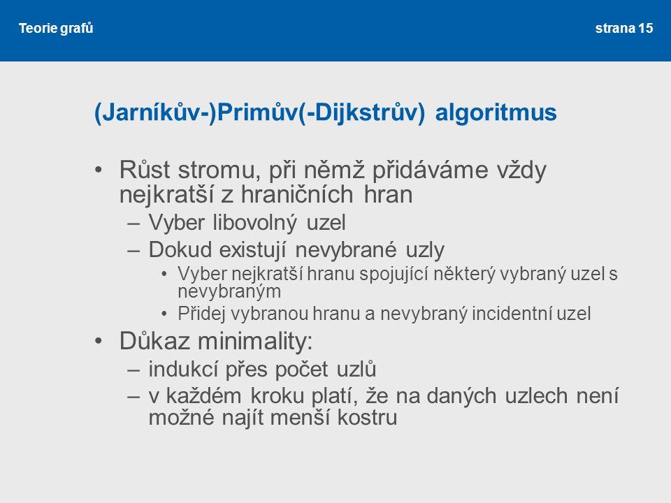 (Jarníkův-)Primův(-Dijkstrův) algoritmus